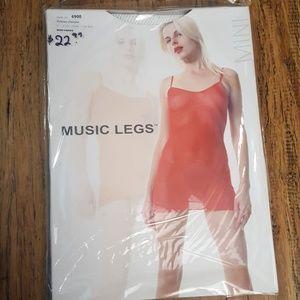 Music legs white mini dress